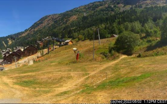 Oz en Oisans webcam at lunchtime today