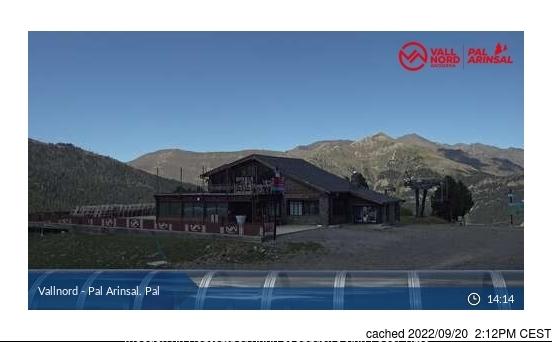 Vallnord-Pal Webcam gestern um 14.00Uhr