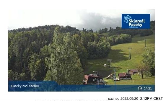 Paseky nad Jizerou webcam at 2pm yesterday