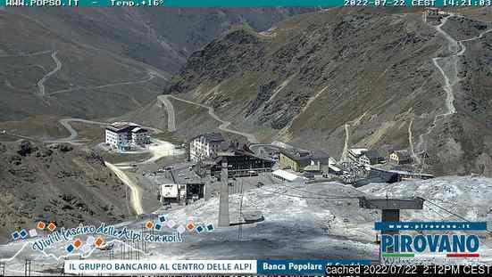 Passo Stelvio webcam at lunchtime today