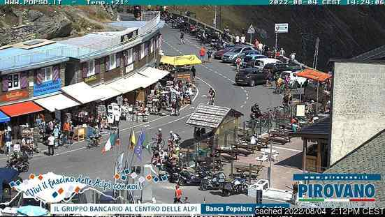 Passo Dello Stelvio Stilfserjoch webcam at lunchtime today