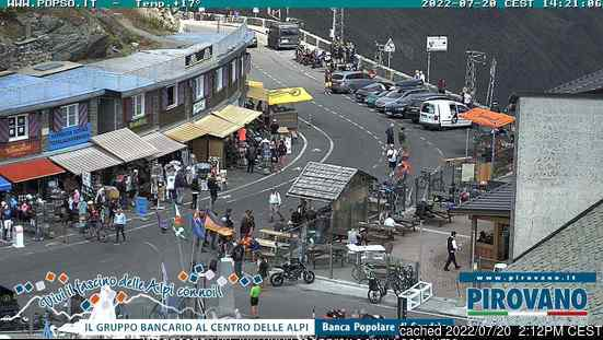 Webcam de Passo Dello Stelvio Stilfserjoch a las 2 de la tarde hoy
