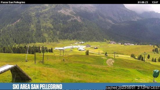 Passo San Pellegrino webcam om 2uur s'middags vandaag