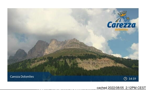 Carezza webcam at lunchtime today