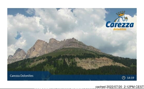 Carezza webcam at 2pm yesterday