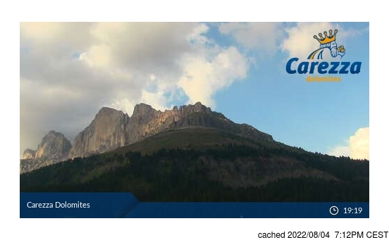 Live Snow webcam for Carezza