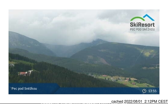 Pec pod Sněžkou webcam at 2pm yesterday