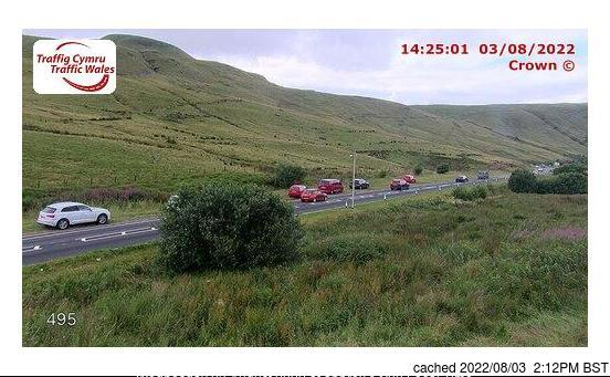 Pen-y-Fan Webcam gestern um 14.00Uhr