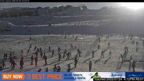 Live webcam per Perisher se disponibile