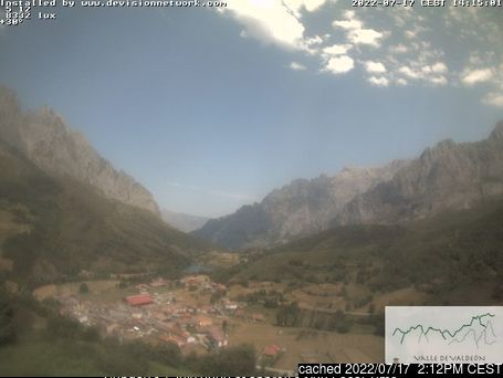 Picos De Europa webcam at 2pm yesterday