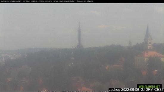 Praha - Petřín webcam at lunchtime today