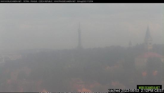 Webcam de Praha - Petřín a las 2 de la tarde hoy