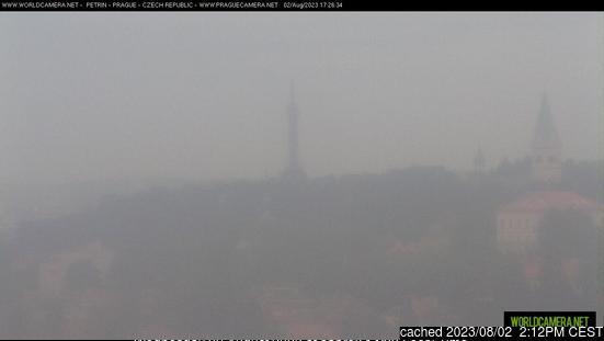 Praha - Petřín webcam at 2pm yesterday