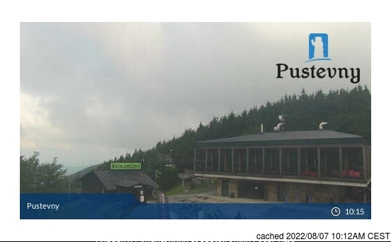 Pustevny webcam at lunchtime today