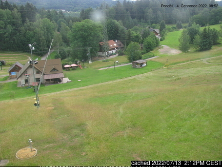 Radvanice webcam at 2pm yesterday