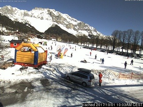 Ramsau am Dachstein (Rittisberg) webcam at lunchtime today
