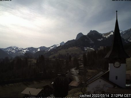 Rossberg Oberwil webcam at 2pm yesterday