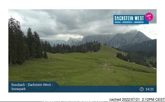 Rußbach webkamera v době oběda