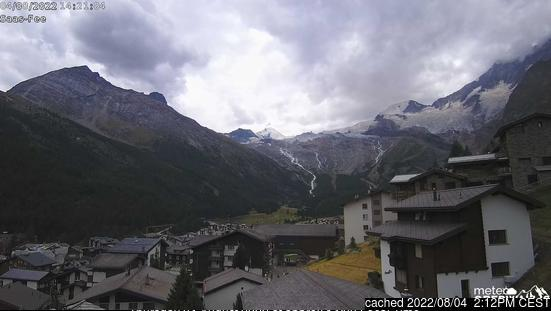 Saas Fee webcam all'ora di pranzo di oggi