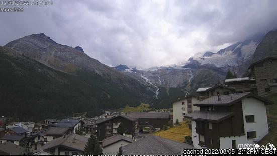 Saas Fee webcam at 2pm yesterday