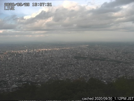 Mt Moiwa ski area webcam at lunchtime today