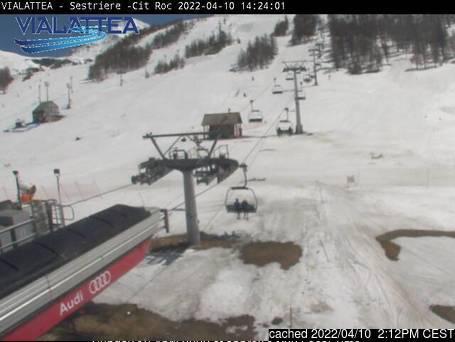Sauze d'Oulx (Via Lattea) webcam om 2uur s'middags vandaag