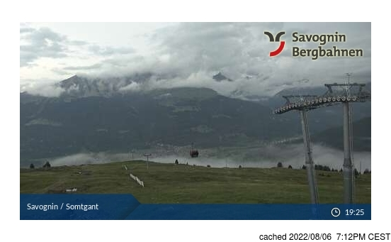 Live Snow webcam for Savognin