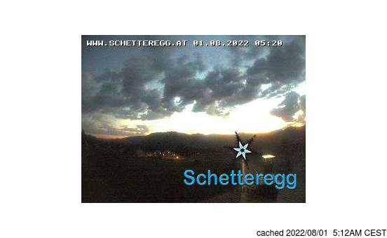 Live Snow webcam for Schetteregg (Egg)