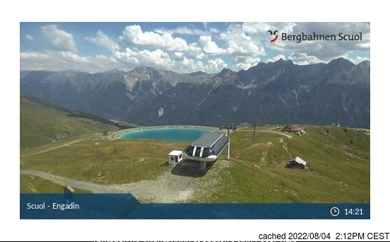 Scuol/Engadin webcam at lunchtime today