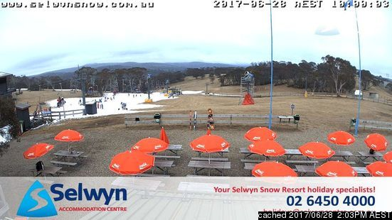 Selwyn Snowfields webcam at lunchtime today