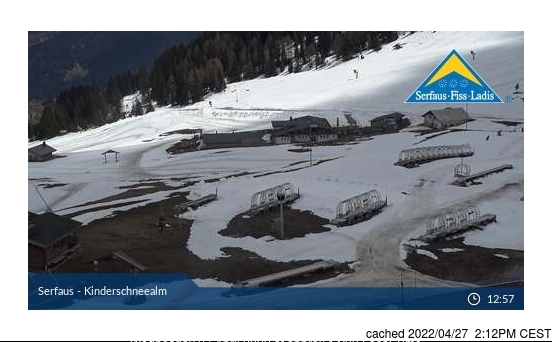 Serfaus webcam at 2pm yesterday