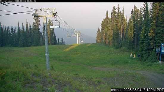 SilverStarの雪を表すウェブカメラのライブ映像