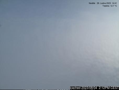 Sněžka webcam at 2pm yesterday