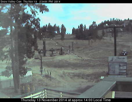 Snow Valley webcam at 2pm yesterday