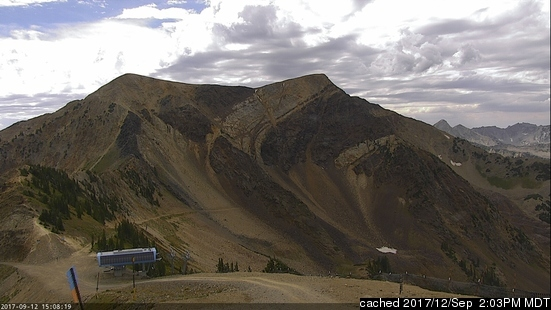 Snowbird webcam at lunchtime today