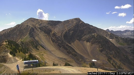 Snowbird webcam at 2pm yesterday