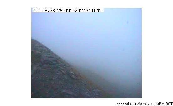 Snowdon webcam at lunchtime today