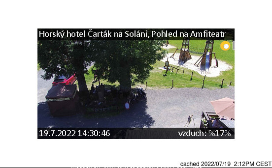 Soláň - Vrchol a Sedlo webcam at 2pm yesterday