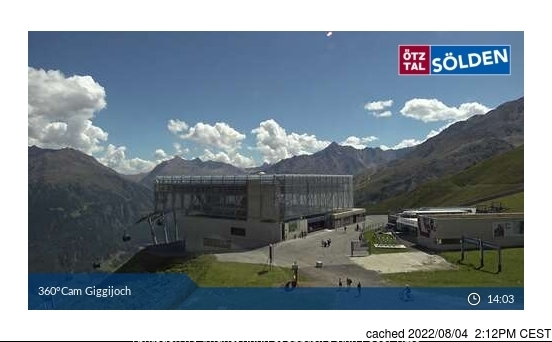 Sölden webcam all'ora di pranzo di oggi