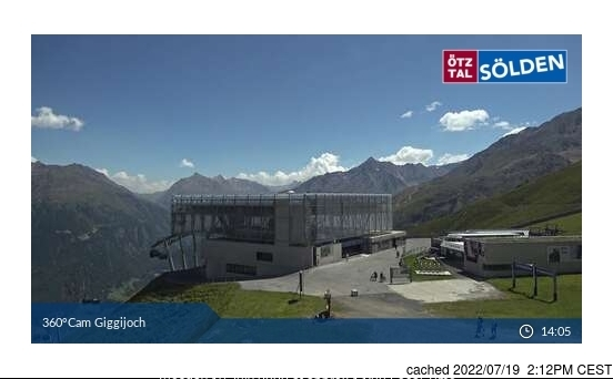 Sölden webbkamera vid kl 14.00 igår