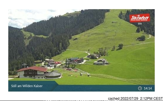 Söll webcam at lunchtime today