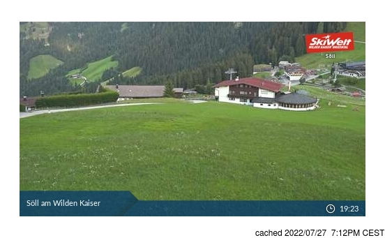 Live Snow webcam for Söll