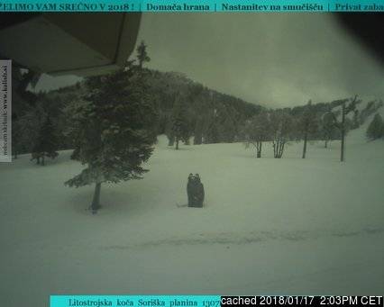 Webcam de Soriska Planina a las 2 de la tarde hoy