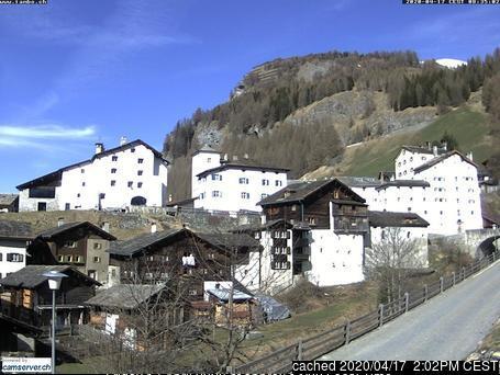 Splügen webcam at lunchtime today