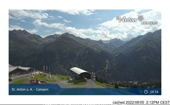 St Anton webcam at lunchtime today