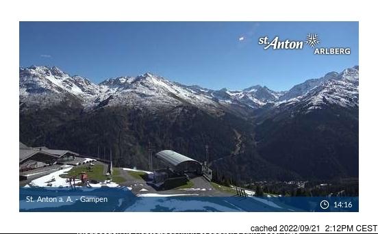 St. Anton webcam hoje à hora de almoço