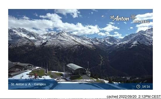 Webcam de St. Anton à 14h hier