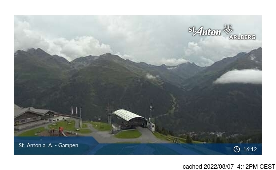 Live Snow webcam for St Anton