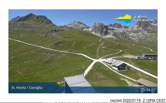St Moritz webcam at lunchtime today