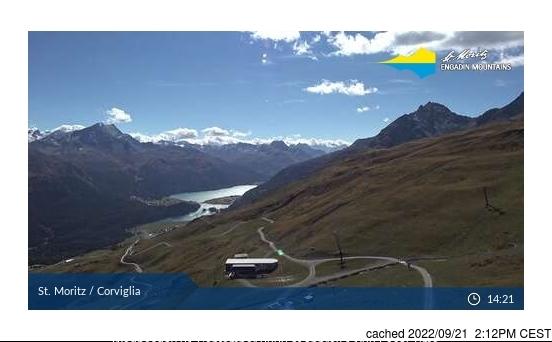 Bugün akşam yemeğinde St Moritz'deki webcam